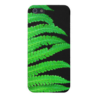 Helecho negro y verde iPhone 5 fundas