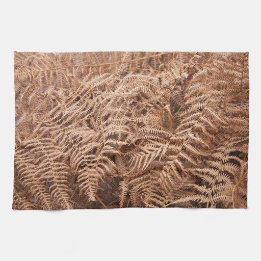 Helecho seco viejo de Brown amarillo - fotografía  Toalla