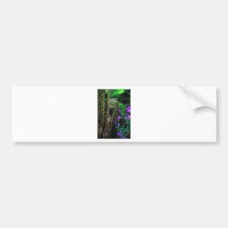 Helecho y flores pegatina de parachoque