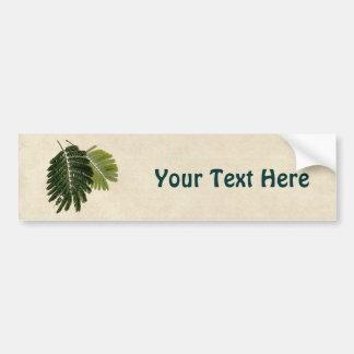 Helechos con hojas finos grabados en relieve pegatina para auto