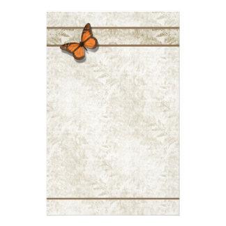 Helechos de la mariposa del ~ de los efectos de personalized stationery