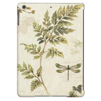 Helechos decorativos y una libélula funda para iPad air