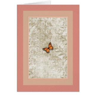 Helechos del ~ de la mariposa tarjeta de felicitación