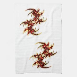 Helechos del fuego toalla de cocina