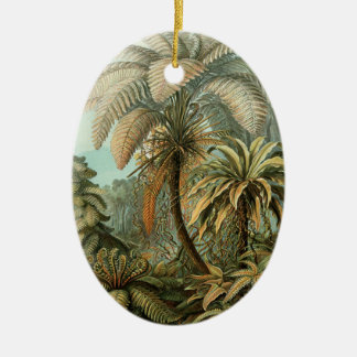 Helechos y palmera del vintage botánicos ornaments para arbol de navidad