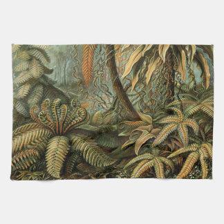 Helechos y palmera del vintage botánicos toalla