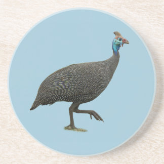Helemted Guineafowl Sandstone Coaster