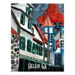 Helen GA vacation paradise German town Georgia art Letterhead