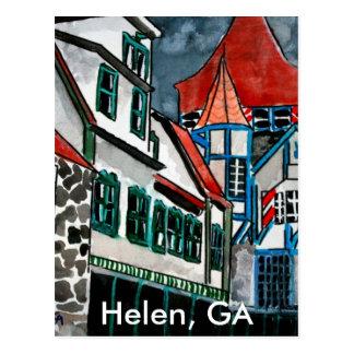 Helen GA vacation paradise German town Georgia art Postcard