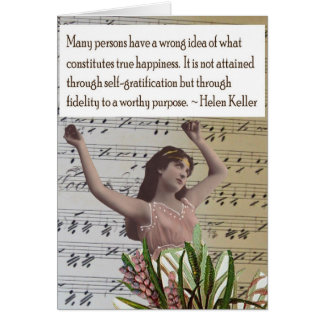 Helen Keller Collage Quote Greeting Card