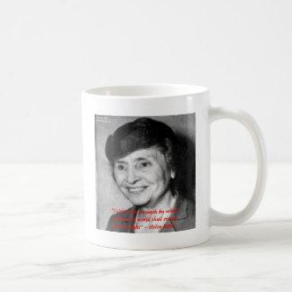 "Helen Keller ""Faith/Stength"" Wisdom Quote Coffee Mug"