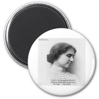 """Helen Keller """"Faith/Strength"""" Wisdom Quote Gifts 2 Inch Round Magnet"""