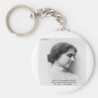 "Helen Keller ""Faith/Strength"" Wisdom Quote Gifts Keychain"