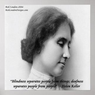 Helen Keller & Famous Blind/Deaf Poster