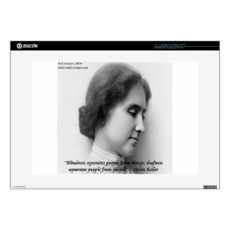 "Helen Keller & Famous Deaf/Blind Quote Decal For 15"" Laptop"