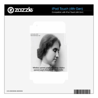 Helen Keller & Famous Deaf/Blind Quote Decal For iPod Touch 4G