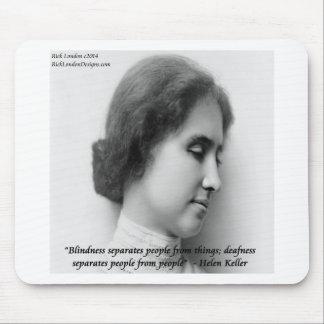 Helen Keller & Famous Deaf/Blind Quote Mouse Pad