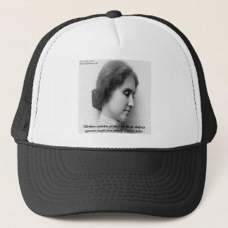 Helen Keller & Famous Deaf/Blind Quote Trucker Hat