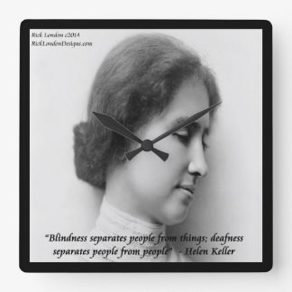 Helen Keller Famous Deaf/Blind Quote Wall Clock