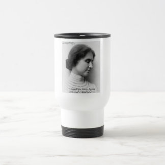 Helen Keller Fight Difficulties Wisdom Quote Gifts Travel Mug