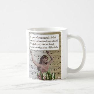 Helen Keller Happiness Quote Collage Mug