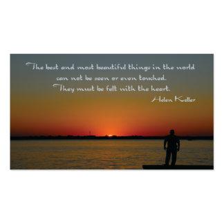 Helen Keller Inspirational Saying Business Card