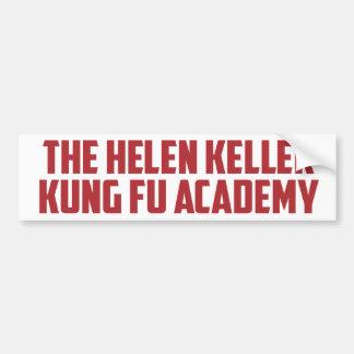 Helen Keller Kung Fu Academy Funny Bumper Sticker