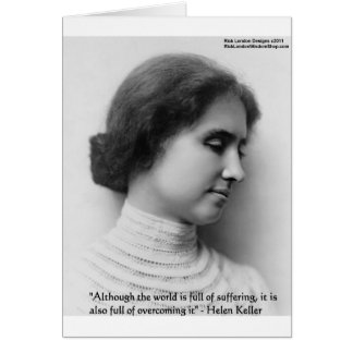 """Helen Keller """"Obstacles"""" Wisdom Quote Gifts & Card Card"""