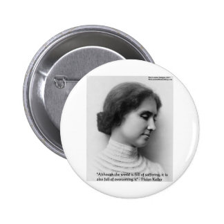 """Helen Keller """"Obstacles"""" Wisdom Quote Gifts & Card Button"""