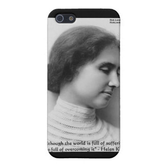 """Helen Keller """"Obstacles"""" Wisdom Quote Gifts & Card iPhone SE/5/5s Cover"""