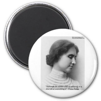 """Helen Keller """"Obstacles"""" Wisdom Quote Gifts & Card Refrigerator Magnet"""
