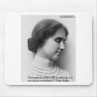 "Helen Keller ""Obstacles"" Wisdom Quote Gifts & Card Mouse Pad"