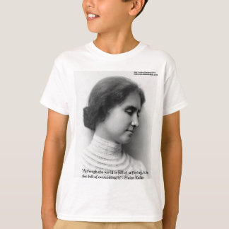 "Helen Keller ""Obstacles"" Wisdom Quote Gifts & Card T-Shirt"