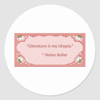 Helen Keller on Literature Stickers