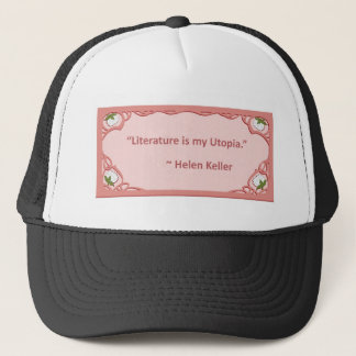 Helen Keller on Literature Trucker Hat