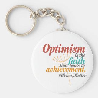Helen Keller Optimism Quote Keychain