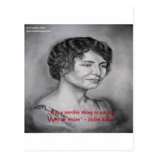 Helen Keller que tiene cita de la sabiduría de Tarjeta Postal