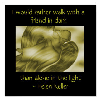 Helen Keller Quote - Angel Poster