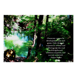 Helen Keller Quote - beautiful nature photograph Poster