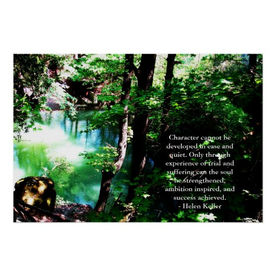 Helen Keller Quote - beautiful nature photograph Poster