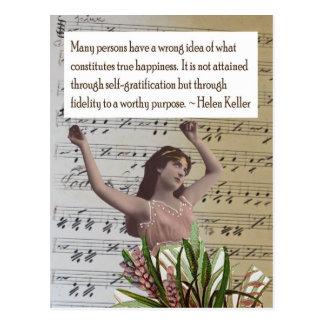 Helen Keller Quote Collage Postcard