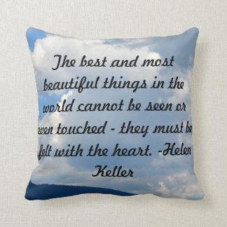 Helen Keller Quote Montana Sky Pillow