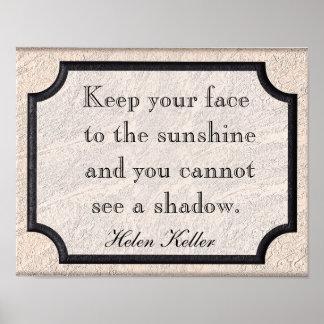 Helen Keller quote - print