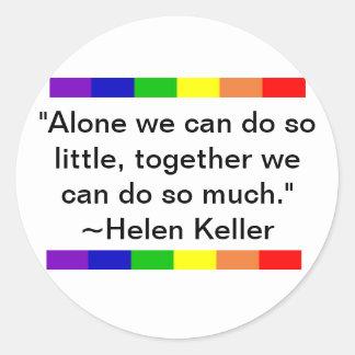 Helen Keller Quote Classic Round Sticker