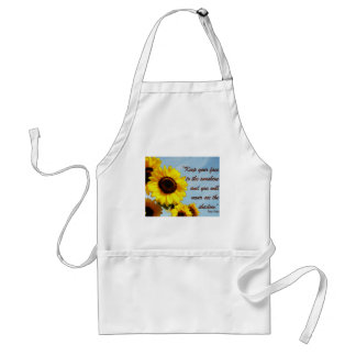 Helen Keller Quote with Sunflower Adult Apron