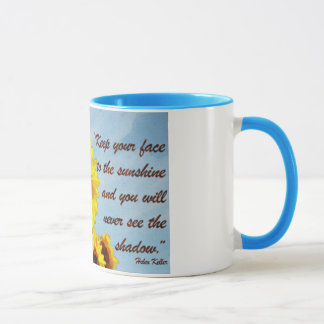 Helen Keller Quote with Sunflower Mug