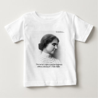 "Helen Keller ""Right 2 Happiness"" Wisdom Quote Gift Baby T-Shirt"