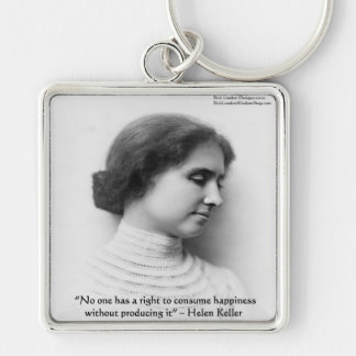 """Helen Keller """"Right 2 Happiness"""" Wisdom Quote Gift Keychain"""