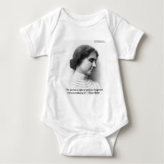 """Helen Keller """"Right 2 Happiness"""" Wisdom Quote Gift T-shirt"""