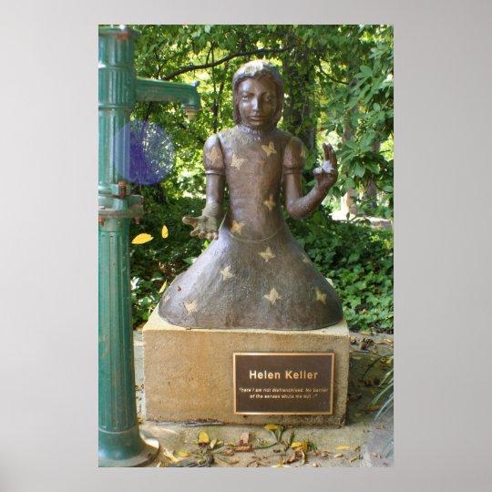 Helen Keller Statue Poster
